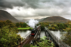 Fort William Departure (Kingmoor Klickr) Tags: scotland steam fortwilliam mallaig mainline jacobite westhighlandline black5 44871 wcrc westcoastrailwayco