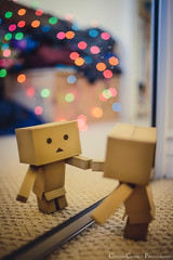 365:291 - Who is That I See, Staring Straight, Back at Me? (Starnerd) Tags: reflection zeiss toy lights mirror nikon general bokeh d800 danbo project365 distagont235 distagon352zf zf2 danboard