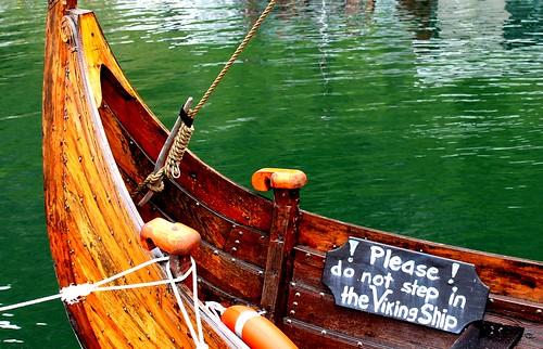 colour water norway wooden ship viking longship anawesomeshot