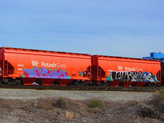 Potash (VDub (o\I/o)) Tags: california ca street railroad art up metal train painting graffiti paint pieces tn nashville pacific tennessee steel union central tracks railway trains tags spray southern railcar valley bayarea unionpacific service spraypaint boxcar panels graff piece aerosol streaks northern corp levis tagging deploy freight bnsf boxcars potash upac ridged amfm trackside csx handstyles freights ttx rbox railart kerse piecing railbox monikers moniker railside sopac goldenwestservice benching fbox