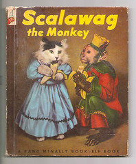Vintage Scalawag the Monkey Rand McNally Elf Book (gregg_koenig) Tags: old dog cat vintage monkey book elf mcnally rand scalawag