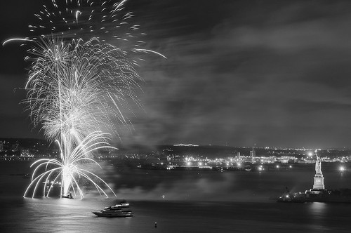 Fireworks in NY Harbor Thursday night