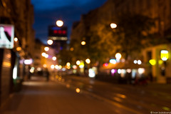 city out of focus (iBalki) Tags: 50mm nikon croatia zagreb bluehour manual defocus nikond600
