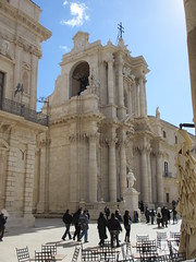 Corner view, Siracusa Cathedral, Italy (Paul McClure DC) Tags: people italy architecture italia cathedral historic syracuse sicily duomo sicilia siracusa feb2013