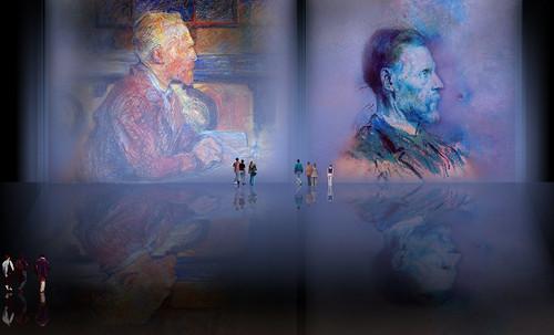 """Mentores, homenaje a Vincent van Gogh de Henri de Toulouse Lautrec (1887), y al padre de Pablo Picasso (1896). • <a style=""""font-size:0.8em;"""" href=""""http://www.flickr.com/photos/30735181@N00/8815681134/"""" target=""""_blank"""">View on Flickr</a>"""