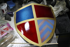 Shield WIP17 (Tsabo Tsaboc) Tags: knights impact cedric shield sir props hillsdale sculpting