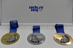 Sochi 2014 unveils Olympic medals (International Olympic Committee) Tags: winter sports russia president olympics putin sochi ioc rogge sochi2014 chernyshenko