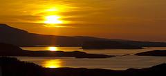 Loch Bracadale Sunset, Isle of Skye (Seras) Tags: sunset sea sun skye island evening bay scotland warm loch carbost macleod portnalong fiskavaig