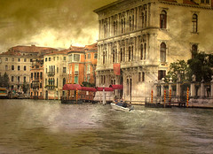Grand Canal. (Christine Dolan) Tags: travel venice italy texture water boats palaces grandcanal