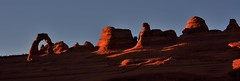 Delicate Arch at sunset from upper view point (gilbertz1) Tags: sunset utah moab archesnationalpark delicatearch nikon18300mm nikond7100