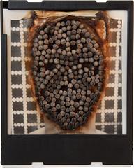 Who the Fuck was Mr Voorhees? (cimolai jerome) Tags: vienna blackandwhite jason polaroid sx70 autoportrait creation burn match impossible polaroidsx70 instantfilm cimolai
