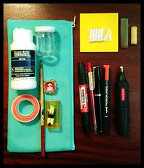 The Portable Atelier Mini, Nyc. (atelier-ying) Tags: china new nyc newyorkcity travel ny newyork moleskine shopping notebook design cafe chinatown artist notes drawing manhattan ying gear gundam midori inyourbag classiccamera sketchkit travelersnotebook pochadebox ying56 atelierying gundamcamera
