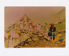 Atop Rohtang [Explored] (a.hatchet) Tags: india mountain film fog analog 35mm xpro crossprocessed prayerflags expired rohtangpass mountainpass himachalpradesh rohtang astia astia100 100iso canonftb explored