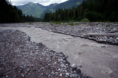Carbon River (looking downstream) (fchemotti) Tags: washington mountrainier pentaxkx carbonriver ipsutcreek rockflour glacialflour