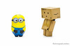 Minion and Danbo (photography.andreas) Tags: figure danbo minion productphotography revoltech canonef50mmf25compactmacro produktfotografie danboard danboo