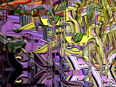 Demon drive away. (eotiv) Tags: abstract art colors drive cg shaped geometry flash demon noise twisted multicolor superstitious gunpower exorcisms