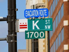 K Street NW (SchuminWeb) Tags: street signs west building k sign st buildings dc washington downtown nw northwest ben evacuation district flag web north columbia flags route signage routes blocks block february signing 1700 2011 schumin schuminweb