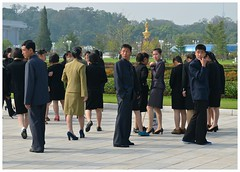Standing Around (t-yac) Tags: travel north korea pyongyang
