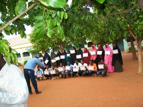 Computer course graduates Somalia