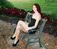 Crimson Beauty on Bench (PhotoAmateur1) Tags: she friends summer portrait people favorite woman black hot cute sexy green art feet girl beautiful beauty smile face crimson fashion lady female scarlet pose bench hair fun skinny nice model eyes shoes colorful long flickr pretty highheels dress photoshoot adult legs little sweet body head top feminine gorgeous chest femme butt curves great perspective creative young picture style babe lips sensual redhead attractive stunning chic lovely elegant cleavage seductive goodlooking slender stylish glamorous beautyshoots
