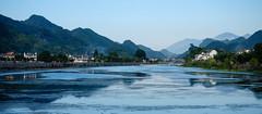 Sunset in LongChuan (sirouni) Tags: china river 167 anhui 安徽 jixi 绩溪 16x7 longchuan 龙川