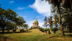 Bahai Temple, Kampala, Uganda (Phil Songa) Tags: blue sky urban colour building architecture worship religion uganda bahai kampala nikond7000