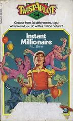 Stine, R.L. - Twistaplot 14: Instant Millionaire (exaquint) Tags: bookcover chooseyourownadventure cyoa