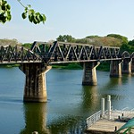 The infamous bridge over the river Kwae (Kwai) in Kanchanaburi, Thailand thumbnail