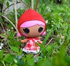 Going to Grandma's House (linda_lou2) Tags: woods day112 112365 365toyproject day112365 lalaloopsy lalaloopsylittles 365the2015edition 3652015 22apr15 caperidinghood