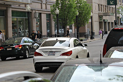 Mercedes-Benz CLA 45 AMG (C117) (RudeDude2140a) Tags: white sports car sedan 45 exotic mercedesbenz amg cla c117