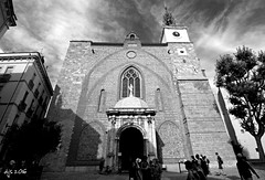 Perpignan Cathedral (Wipeout Dave) Tags: perpignan blackandwhite town france francais pyrnesorientales midipyrnes languedocroussillon perpignancathedral djs2016 davidsnowdonphotography canoneos1100d wipeoutdave