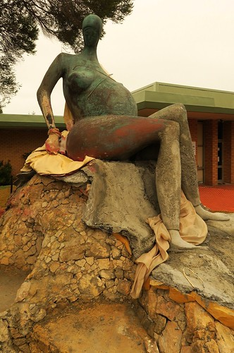 Unfinished but pregnant nude, Fremantle CBD Italian Club sculture WA  2016 06