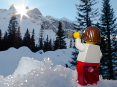 our summit for the next day (genelabo) Tags: lego minifigure miniatur mountain montafon sun alpen lindauer htte summit drusenfluh figur mini canon g16 schnee snow outdoor