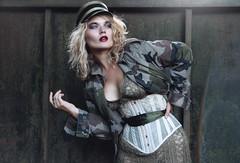 'Military Glam.' (Laura Jane Harding) Tags: military glam glamour fashion camoflague light model pose hat conceptual