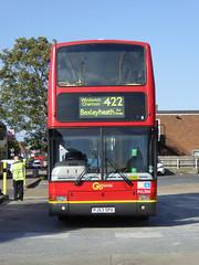 GAL PVL366 - PJ53SPV - BX BEXLEYHEATH BUS GARAGE - WED 14TH SEPT 2016 (Bexleybus) Tags: go ahead goahead london bx bexleyheath bus garage depot kent volvo plaxton president pvl366 pj53spv tfl route 422