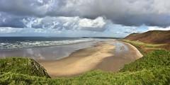 Rhossili Bay 1 (smflickr2012) Tags: beach light landscape seascape clouds green canon 500d sea