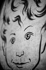 Times Gone By (belleshaw) Tags: blackandwhite laartsdistrict downtownla streetart wheatpaste poster drawing boy eyes detail bokeh