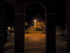 Under the Arches (ryanbretoi) Tags: campus iowa state arch night light