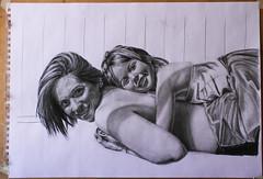 Dibujo en proceso (Tavinci) Tags: art arte dibujo retrato portrait pencil grafito faber paper draw sketch mujer workinprogress fineart