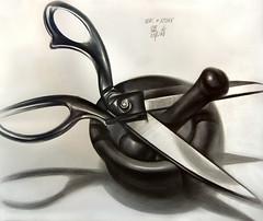Зевс и Хронос (ПЯТНИЦКАЯ) Tags: graphite graphic карандаш графит графика myth stilllife scissors chronos zeus мифы миф натюрморт ступа ножницы хронос зевс
