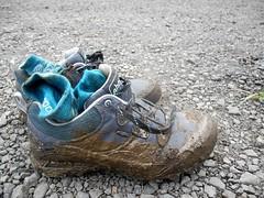 ahnu sugarpine hiking boots. (citymaus) Tags: maui hiking trail hawaii tropical waihee ridge hike wailuku mud muddy waterproof
