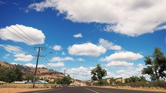Outback Road (alexandriabrangwin) Tags: alexandriabrangwin 3d cgi computer graphics virtual world photography forzahorizon3 australian outback cooberpedy mining town rural area regional australia highway telegraph poles clouds cloudy sky blue xboxone