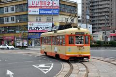 Iyotetsu 61 [Matsuyama tram] (Howard_Pulling) Tags: matsuyama japan april 2014 japanese howardpulling