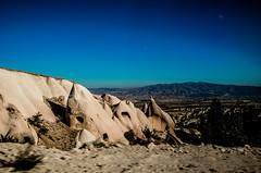 Landscape (Melissa Maples) Tags: nevehir turkey trkiye asia  nikon d5100   nikkor afs 18200mm f3556g 18200mmf3556g vr kapadokya cappadocia dawn morning fairychimneys rockformations blue nevehir trkiye
