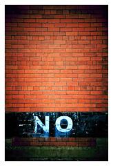 "Being blunt ! (CJS*64 ""Man with a camera"") Tags: cjs64 cjs nikon nikkorlens nikkor nikond7000 18mm105mmlens abstract bolton colour sign wall bricks brick no blunt"