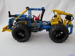 02e (nikolyakov) Tags: lego legotechnic eurobricks pneumatic logging skidder moc tc10