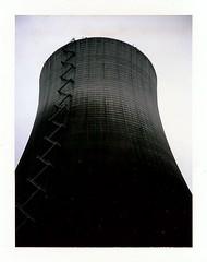 Polaroid Satsop Nuclear Power Plant Washington State (Handsomejimfrommaryland) Tags: polaroid land camera fuji satsop nuclear power plant aura cooling tower nude blonde hunk