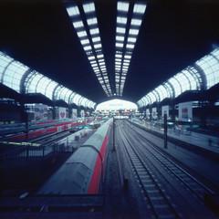 Pinhole - Hamburg - 007 (callencoss) Tags: pinhole realitysosubtle 6x6 kodakektar100 hamburg germany lochkamera deutschland longexposure trainstation hauptbahnhof