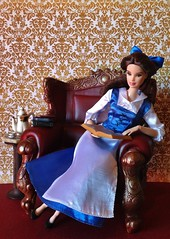 A Good Read with Tea (MaxxieJames) Tags: belle barbie beauty beast disney princess mattel doll dolls collection custom