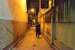 An escape route (sanat_das) Tags: kolkata d800 man 50mm pedestrian alley lane escaperoute elginlane